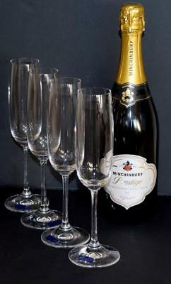Set of 4 'MARQUIS' WATERFORD CRYSTAL Champagne Flutes - Tall (23cm in height)