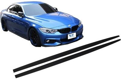 Side Skirts Add-on Lip For  BMW 4 Series F32 F33 F36 Coupe Cabrio Grand Coupe M-
