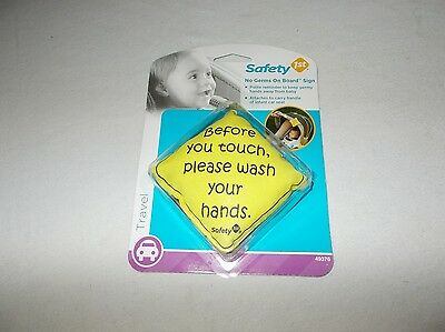 2 pack Safety 1st 49376 please wash your hands no germs on board pillow sign new
