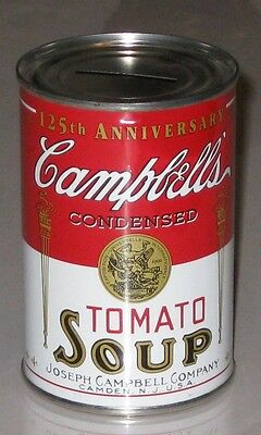 CAMPBELL'S 125th ANNIVERSARY TOMATO SOUP COIN BANK - 1994- NEW