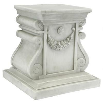 "Ornate Regal Greek Roman Medium 12""H  Column Plinth Base NEW"