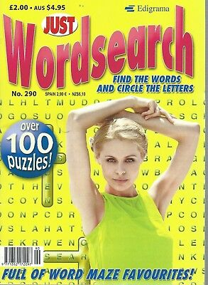 3 Just Word Search Magazines Most With 100+ Puzzles Solutions In Back (Set 73)