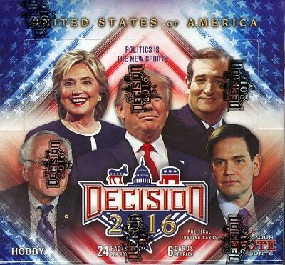 Decision 2016 Trading Cards Box Blowout Cards