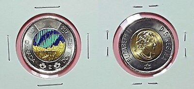 Canada 2017 Dance of the Spirits Colourized Toonie From Mint Roll!!