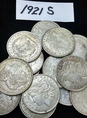 1921 Morgan Silver Dollar Lot P D & S in VF or Better Condition  #DV01