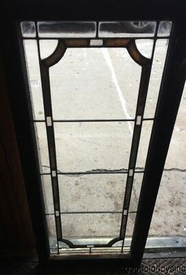"Antique Chicago 1920's Stained leaded Glass Door / Window Transom 45"" by 20"""