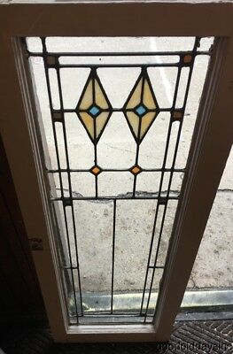 Antique 1920's Stained leaded Glass Door / Window from Chicago