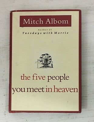 The Five People You Meet in Heaven by Mitch Albom HARDCOVER w/DUST JACKET