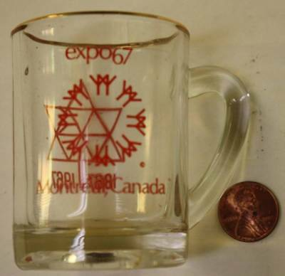 1967 Montreal Canada Expo 67 World's Fair event miny beer stein shotglass-NICE!