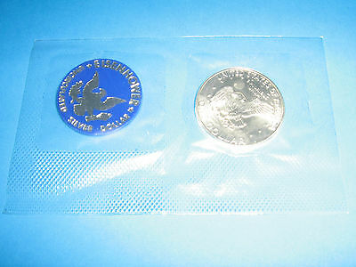 Usa 1972 Silver Eisenhower Dollar In Pack Of Issue