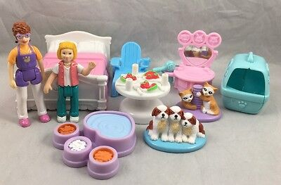 Sweet Streets Fisher Price House Pet Parlor Chair Bed Table Carrier Kitten Puppy