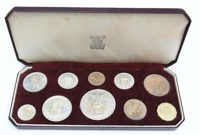 1953 Queen Elizabeth II Coronation 10-Coin Proof set all 10 coins PRF63 to PRF66