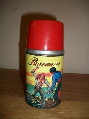 "Ca. 1957 ALADDIN brand "" BUCCANEER "" 1/2 pint LUNCH BOX THERMOS"