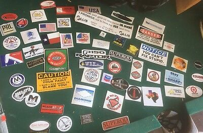Lot Of 56 Oil Rig Stickers Decal Oilfield rough neck boom Hard Hat