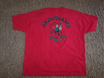 vintage t-shirt - Akoubian's Pizza in Fountain Valley, California, XXL Adult.