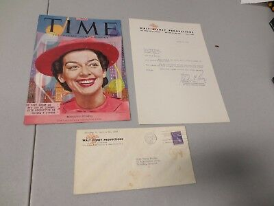 Representative to Rosalind Russell SHIRLEY E. HERZ Signed Letter w/ Mailing Enve