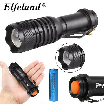 6000LM Super Bright AA/14500 3 Modes Strap Zoomable LED Flashlight Torch Lamp