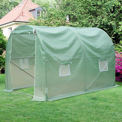 Outsunny Greenhouse Galvanised Frame Polytunnel Walk-in Grow Plant Steel 3 x 2 M