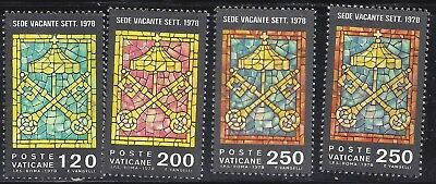 1978 VATICAN SET OF 3 + 1 Pope John Paul I Deceased Vacant seat  mnh