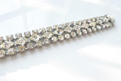 Vintage 1920s Costume Jewellery Party Diamante Detail Stones Repro Diamonds Eve