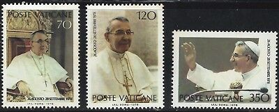 1978 VATICAN  SET 3 of 4   Pope John Paul I    mnh