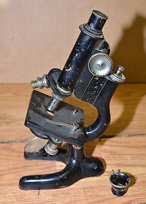 Antique Bausch & Lomb microscope Leitz Wetzlar Maine Zeiss lens collectible tool