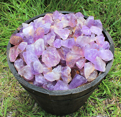 500 Carat Lot Rough Amethyst Natural (Brazil) Premium Grade Rocks Tumbling