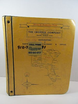 Rare The Cropper Company Large Farm Implement Advertising Price Manual Book