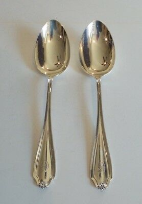 Pair Whiting Mfg. STRATFORD Sterling Silver Serving Spoons, 120 grams