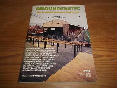 Groundtastic The Football Grounds Magazine GT31 Winter 2002 Ft Derby Rotherham