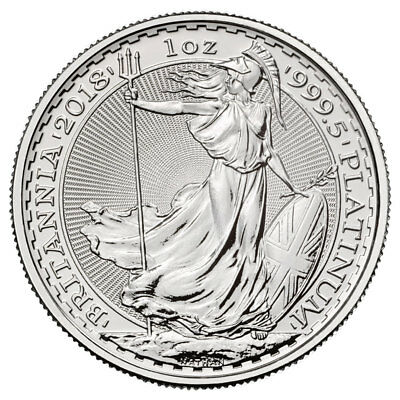 2018 Great Britain 1 oz Platinum Britannia £100 Coin GEM BU SKU52477
