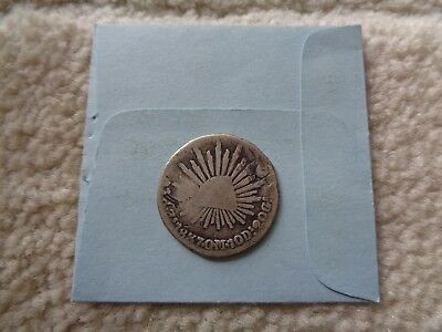 1837 Zs OM Mexico Real Silver coin
