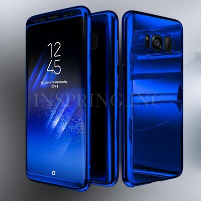 For Samsung Galaxy S10 S8 S9 Plus 360° Full Protection Hybrid Mirror Case Cover
