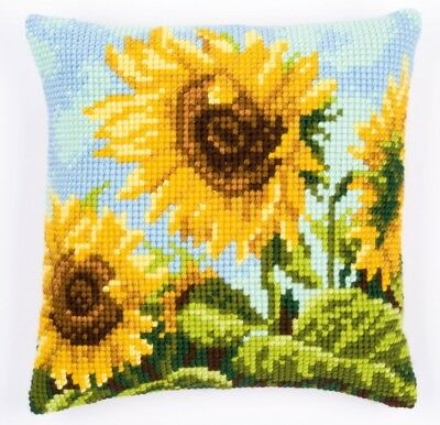 Vervaco Cross Stitch Cushion Kit backing optional PN-0008619 Poppies