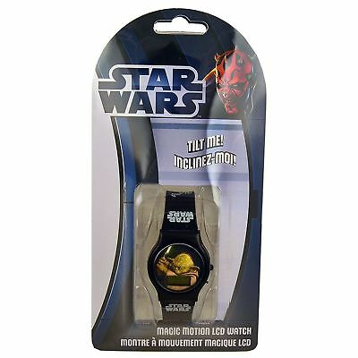 STAR WARS Magic Motion LCD Watch Brand New in Pack with Battery features YODA