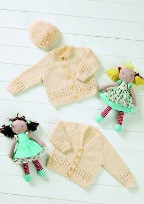 Stylecraft Baby Cardigans Wondersoft Knitting Pattern 8623 ... Free UK P/&P