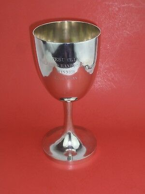 WANG HING Chinese Export Silver Chalice Trophy 1915 610 Grams