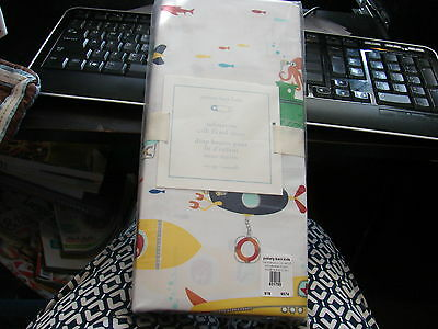Pottery Barn Kids Submarine Crib Fitted Sheet Very Cute And Colorful