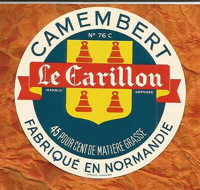 SEINE MARITIME  ETIQUETTE CAMEMBERT  CANY BARVILLE carillon cloches BELL