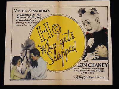 He Who Gets Slapped 1924 * Lon Chaney * Norma Shearer * Rare Title Lobby Card!!