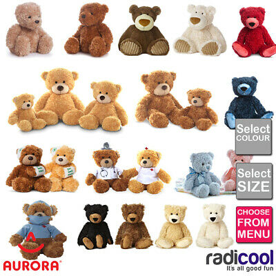 Aurora Bear Collection Plush Teddy Bears Classic - Slouchee - Bonnie - Wagner