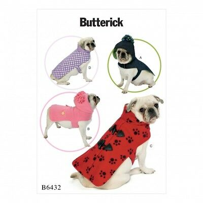 DOG COATS with Contrast & Trim | Butterick Sewing Pattern B6478 ...
