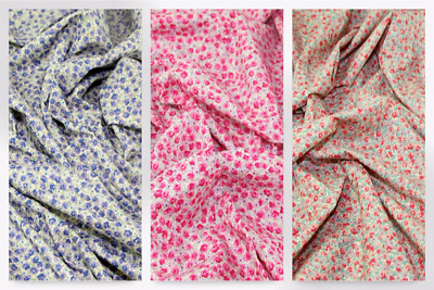 SI107-M Patterned Floral Cotton Lawn Dress Fabric