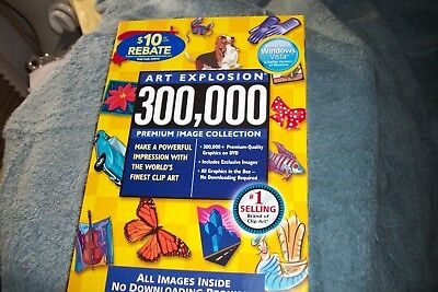 Art Explosion 300,000 Clip Art Software Premium Image Collection New and Sealed
