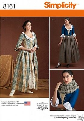 Simplicity Ladies Sewing Pattern 8161 18th Century Costumes (Simplicity-8161-M)