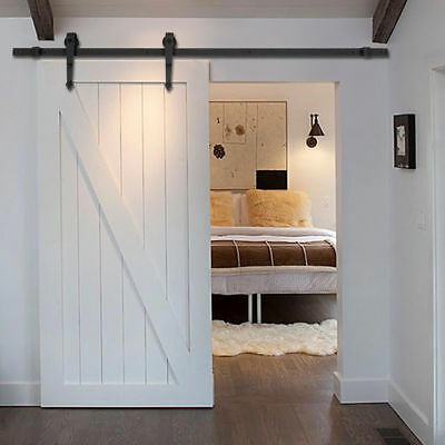 6.6 FT Rustic Country Style Steel Sliding Barn Wood Door Hardware Closet Track