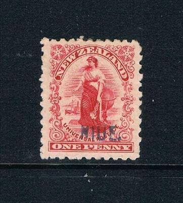 """Niue - 1902 First Issue - 1d NZ Stamp Ovrptd """"NIUE"""" - SC 1 [SG 1 ] Mint 18  NICE"""