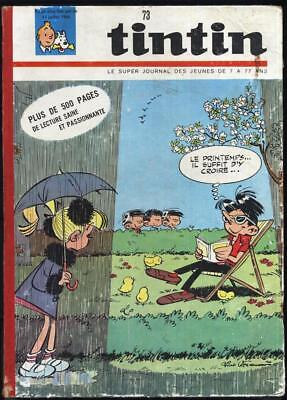 Tintin super journal n°73 reliure n°9-18 1965