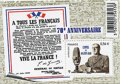 Stamp / Timbre De France  N° F4493 ** Appel Du 18 Juin 1940 General De Gaulle