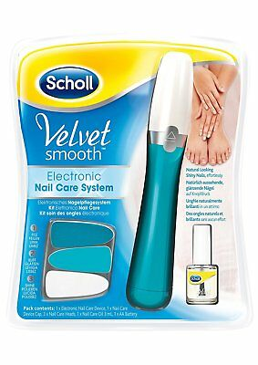 Scholl Velvet Smooth Electric Nail Care System + Free Nail Oil 3ml